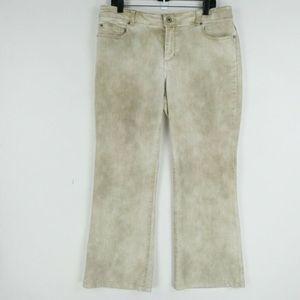 Chicos 2 Jeans Short Denim Beige Ultimate Flare